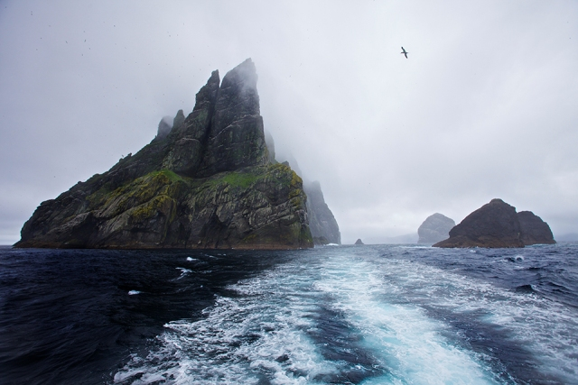 view of St Kilda from the sea