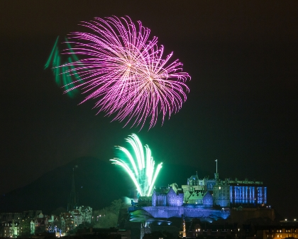 Hogmanay Edinburgh castle
